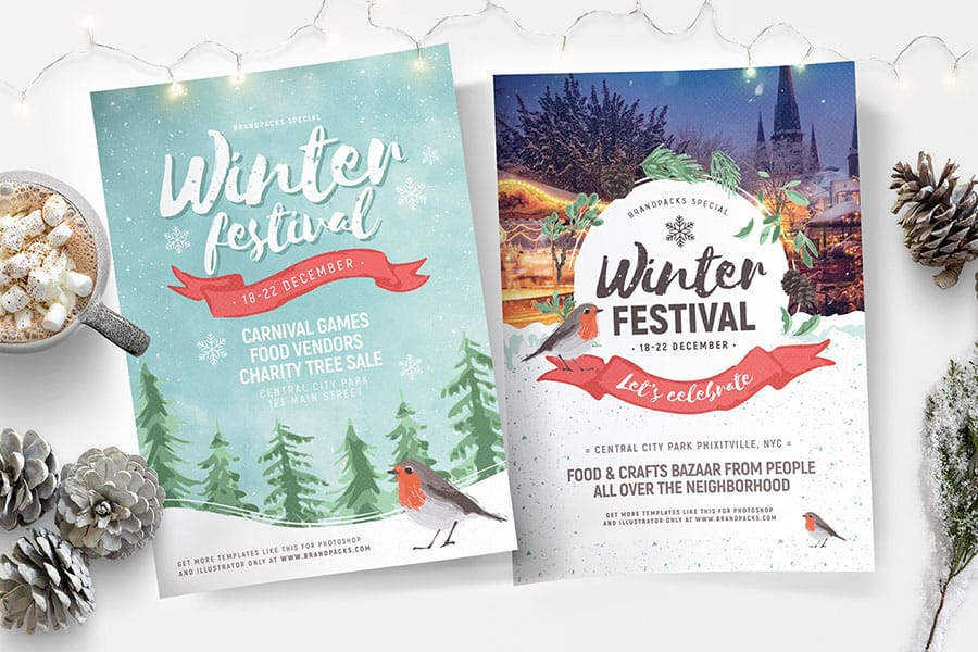 Winter Festival Poster Templates