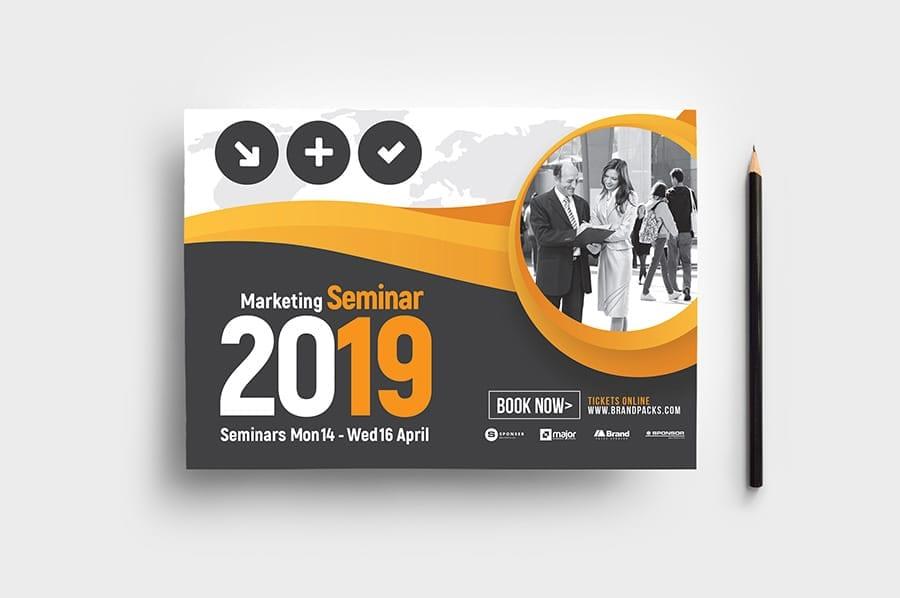 Marketing Seminar Flyer Template