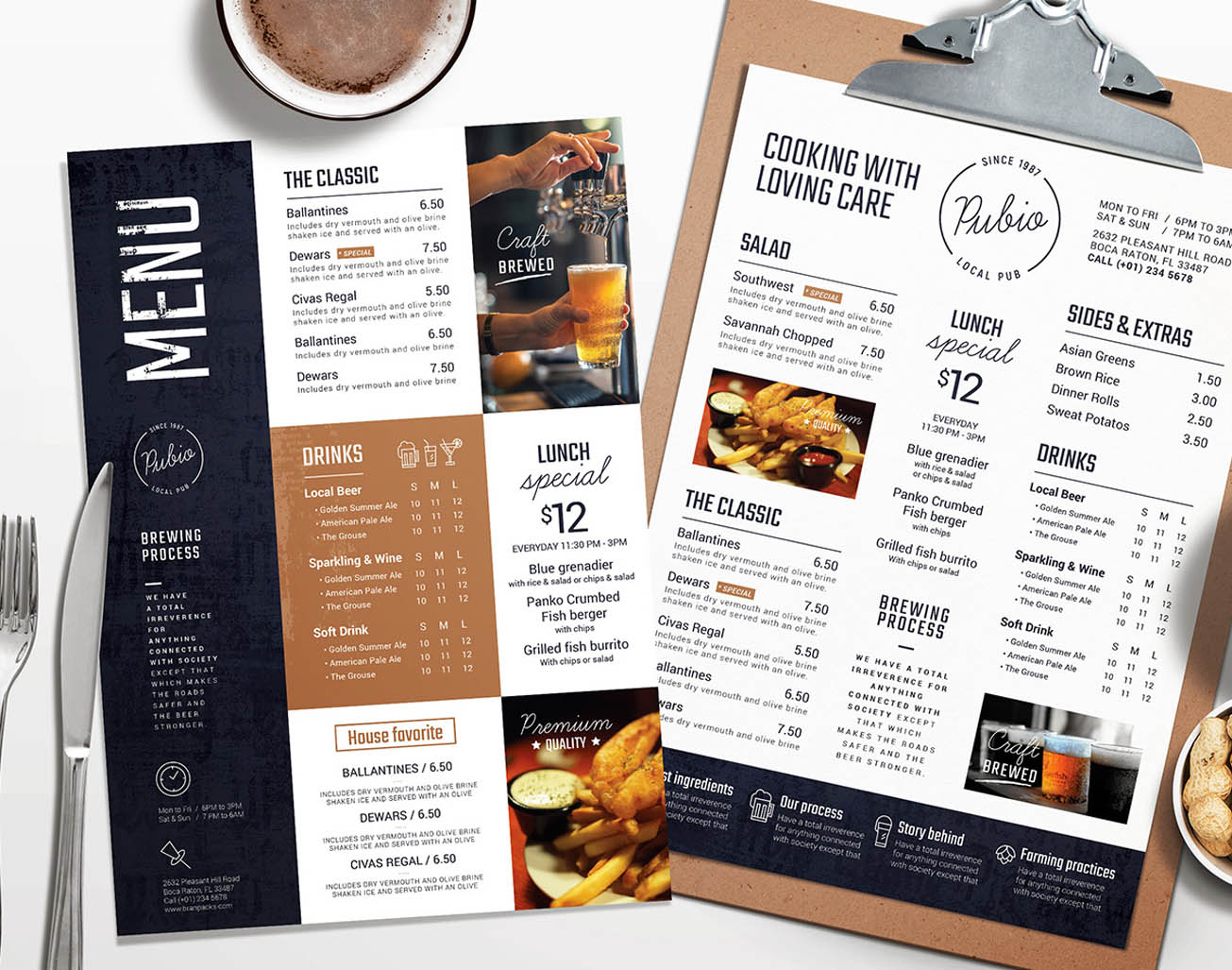Bar Menu Templates