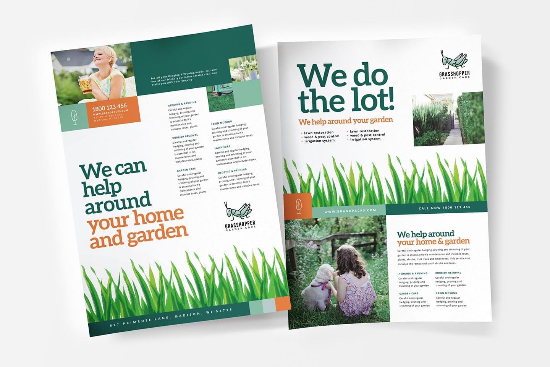 Gardener Service Poster Templates