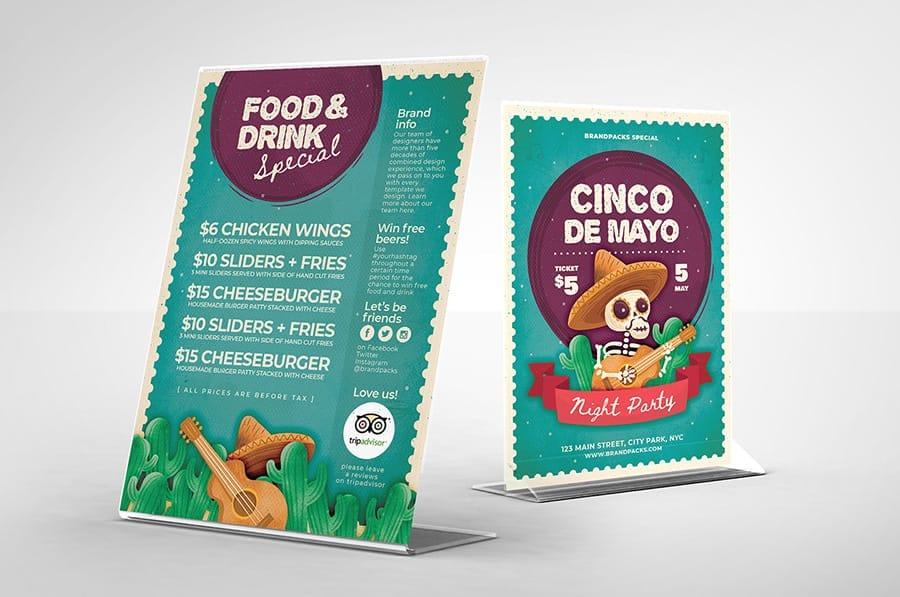 Illustrated Cinco de Mayo Flyer Design