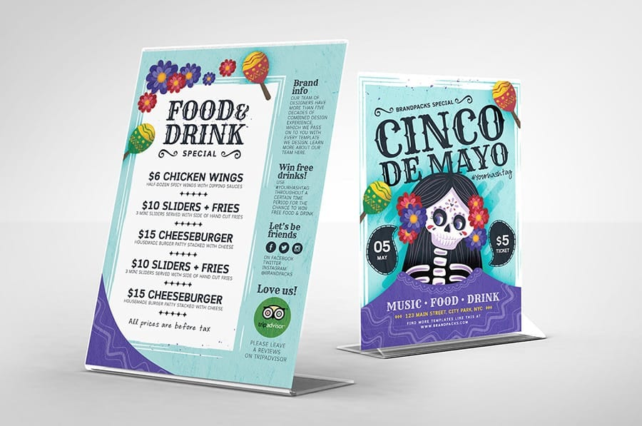Cinco de Mayo Flyer with Skeleton Illustration