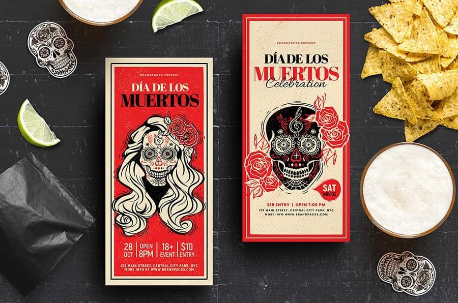 Dia De Los Muertos DL Rack Card / Flyer
