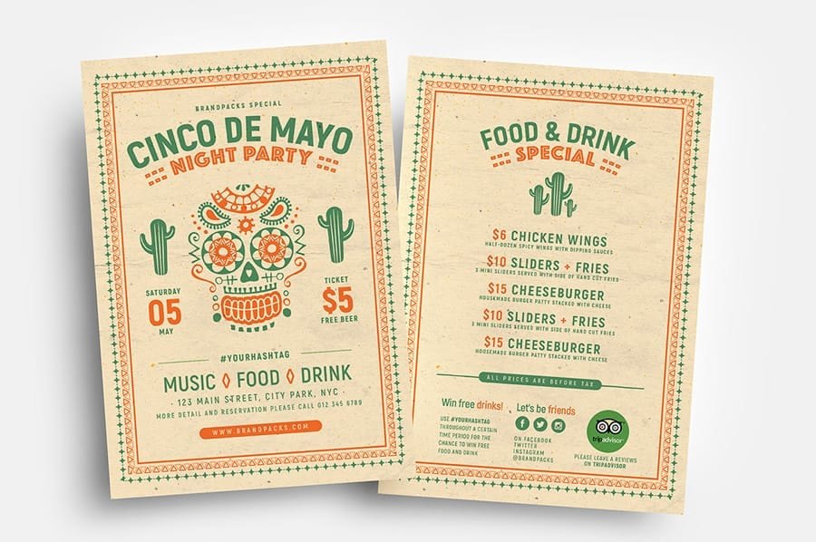 Free Cinco de Mayo Flyer Template