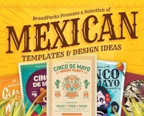 Mexican Themed Templates & Design Ideas for Photoshop & Illustrator