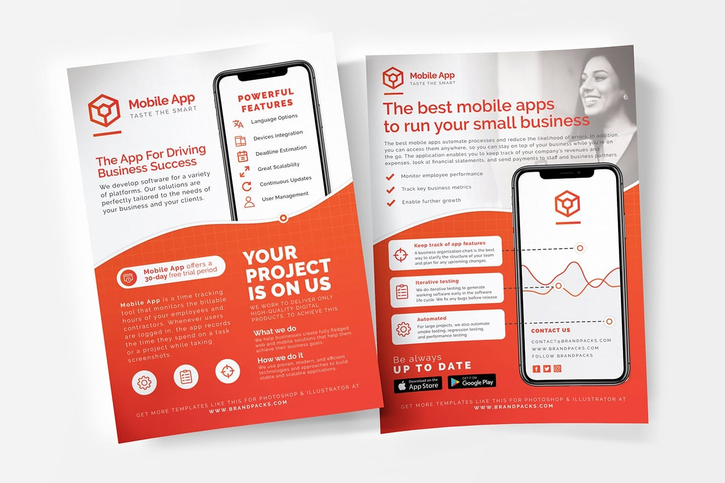 Mobile App Poster/Flyer Templates