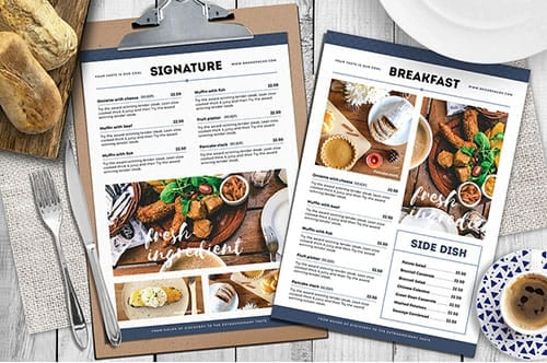 A4 Brunch Cafe Menu Template