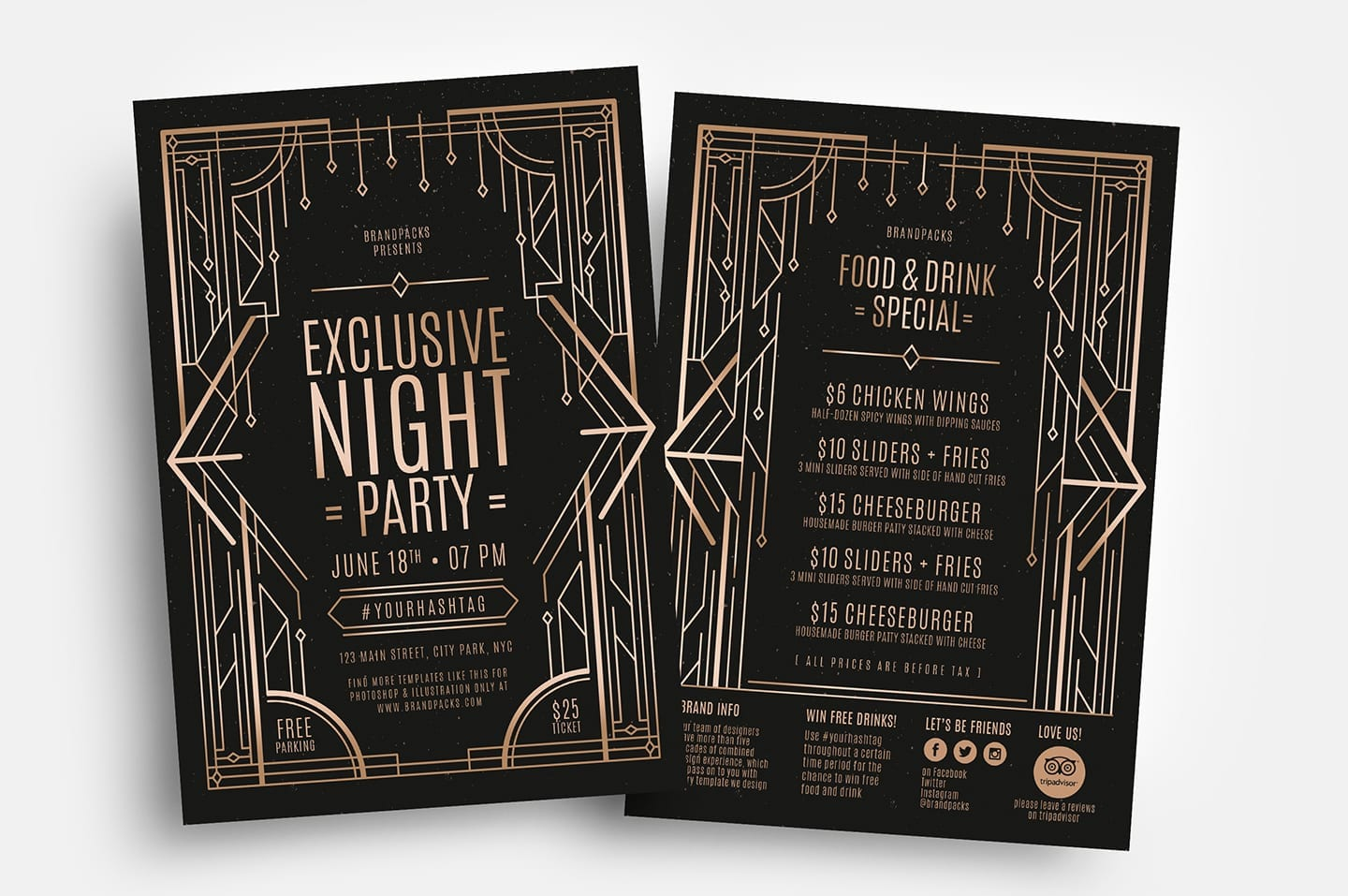 Art Deco Flyer Template (for Photoshop & Illustrator)