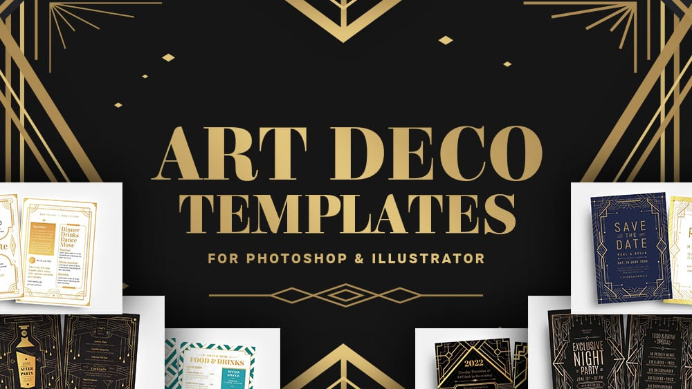 14+ Art Deco Templates for Adobe Photoshop & Illustrator