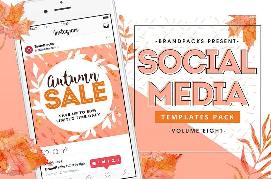 Autumn/Fall Social Media Templates