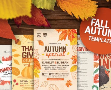 Autumn & Fall Templates for Photoshop & Illustrator