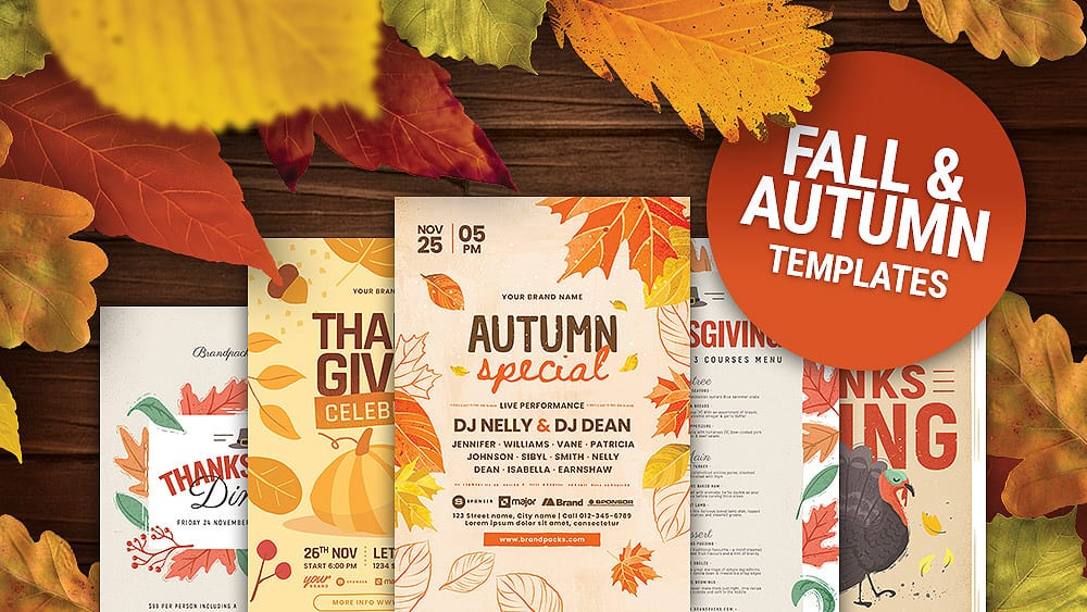14 Best Autumn & Fall Templates for Photoshop & Illustrator