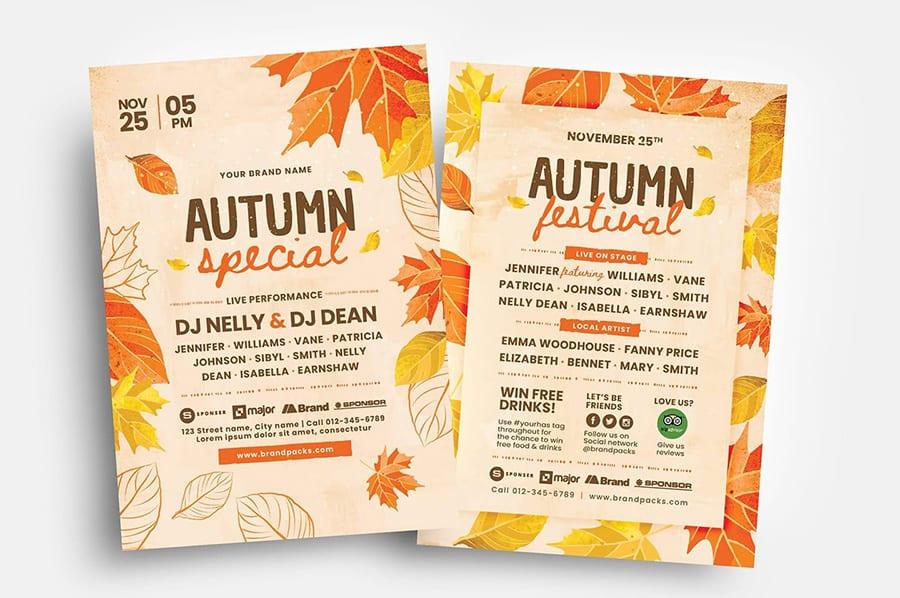 Autumn Flyer Templates