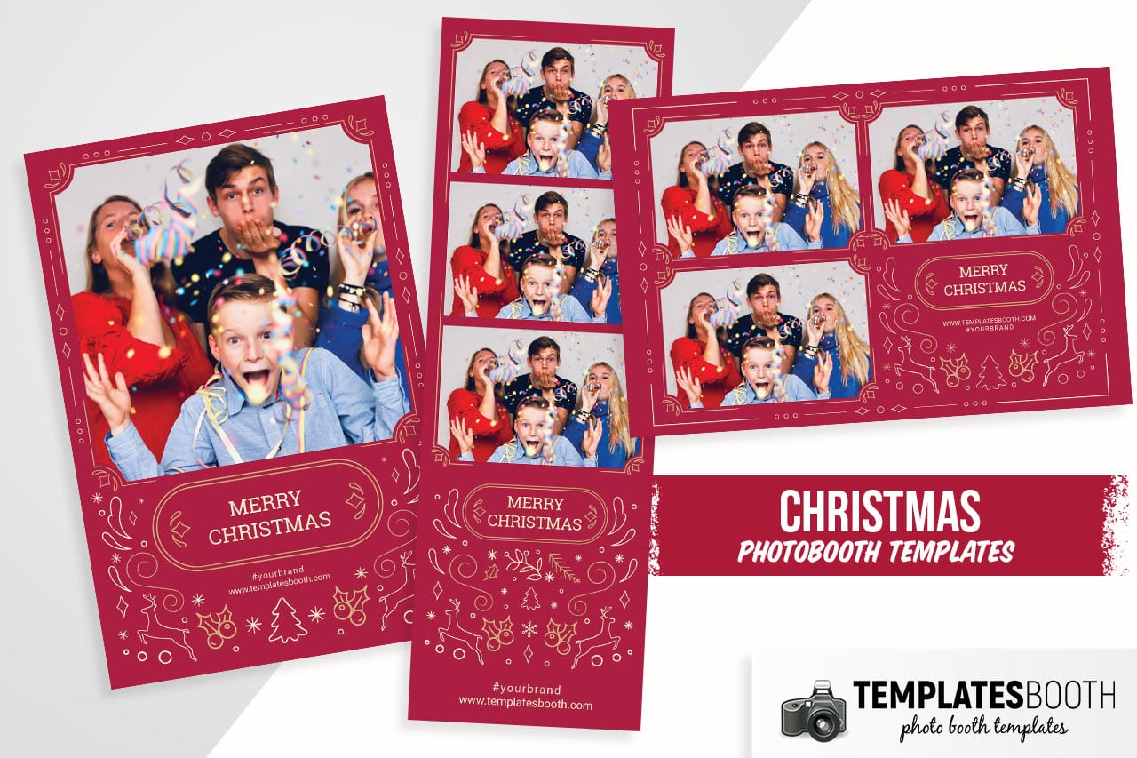 Ornate Christmas Photo Booth Template