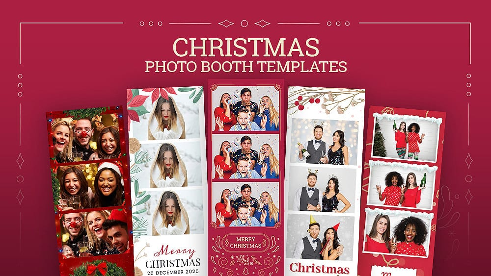 10 Best Christmas Photo Booth Templates
