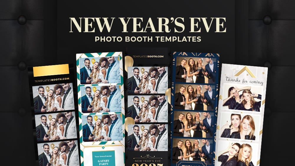 7 NYE Photo Booth Templates for New Year's Eve Parties