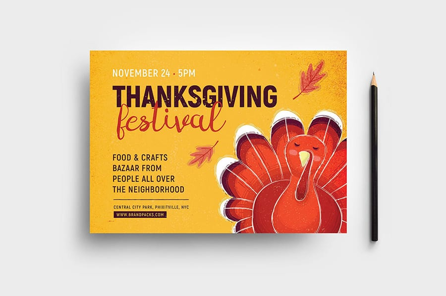 Thanksgiving Flyer Template Photoshop Illustrator