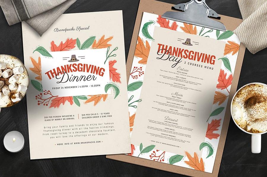 Thanksgiving Menu Templates