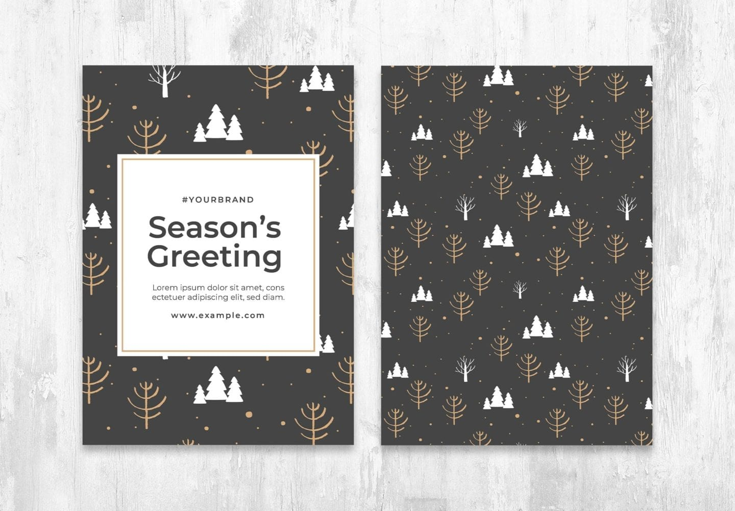 Winter Christmas Card Flyer Template for Photoshop & Illustrator