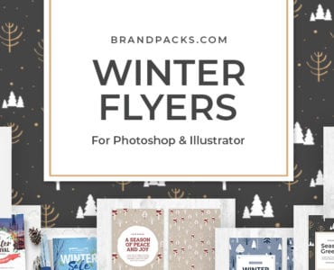 Winter Flyer Templates for Photoshop & Illustrator