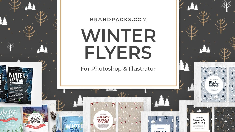15+ Winter Flyer Templates for Photoshop & Illustrator
