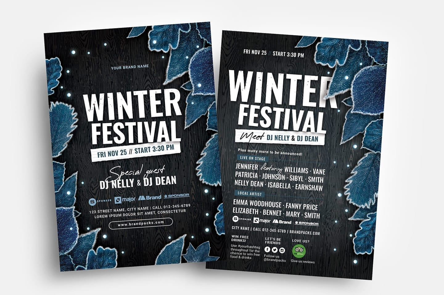 Winter Party Flyer Templates in PSD & Vector