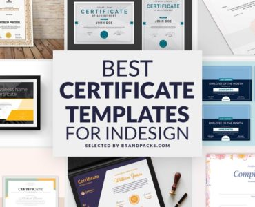 Best Certificate Templates for Adobe InDesign
