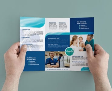 Healthcare/Medical Trifold Brochure Templates