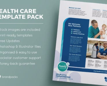 Healthcare / Medical Clinic Templates Pack for Adobe Photoshop & Illustrator