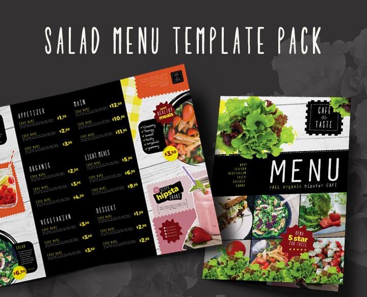 Healthy Salad Menu Template Pack
