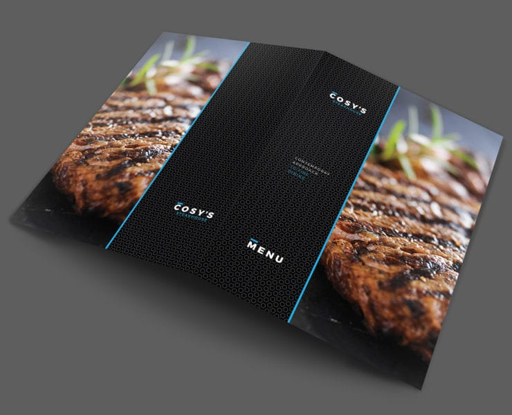 A3 Folding Cosy Restaurant Template