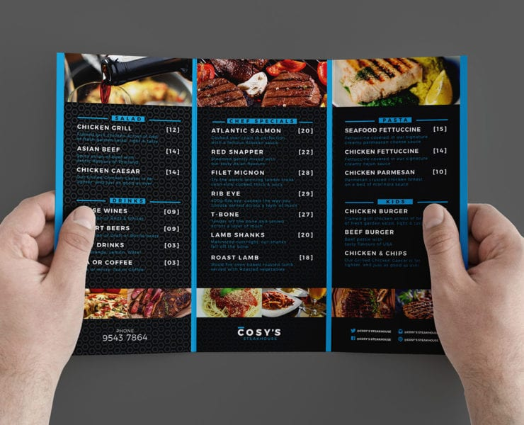 Trifold Cosy Restaurant Template