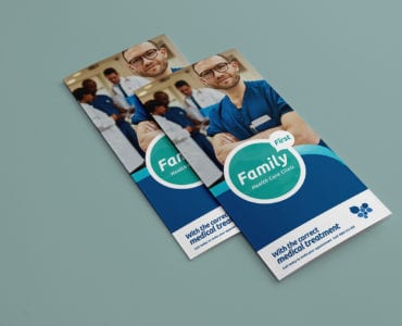 a trifold healthcare clinic template