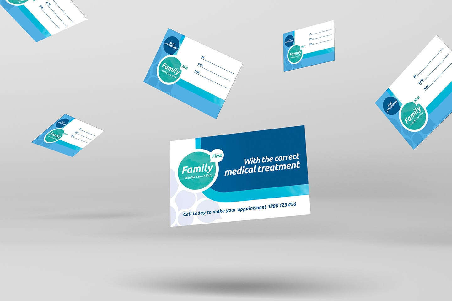 Healthcare Clinic Appointment Card Template in PSD, Ai ...