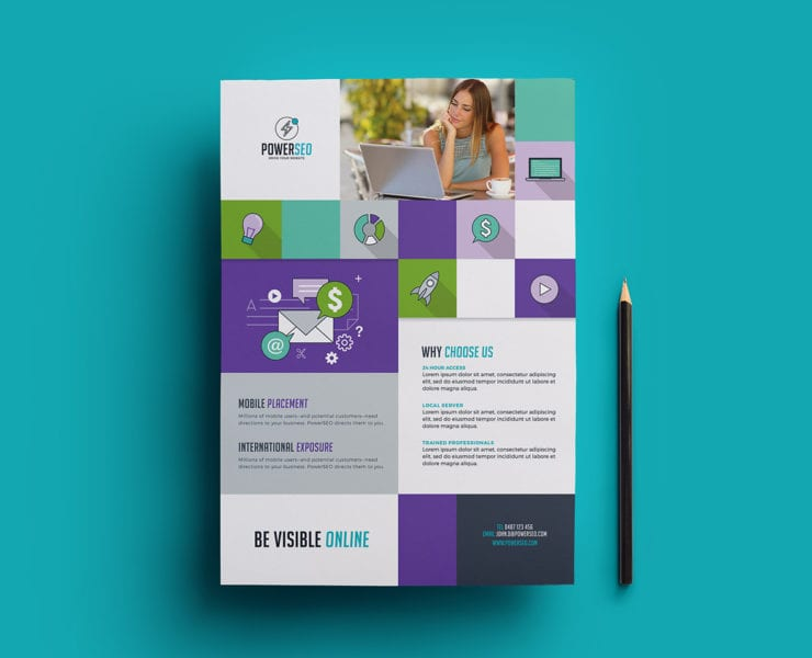 A4 Poster Template for SEO Agencies