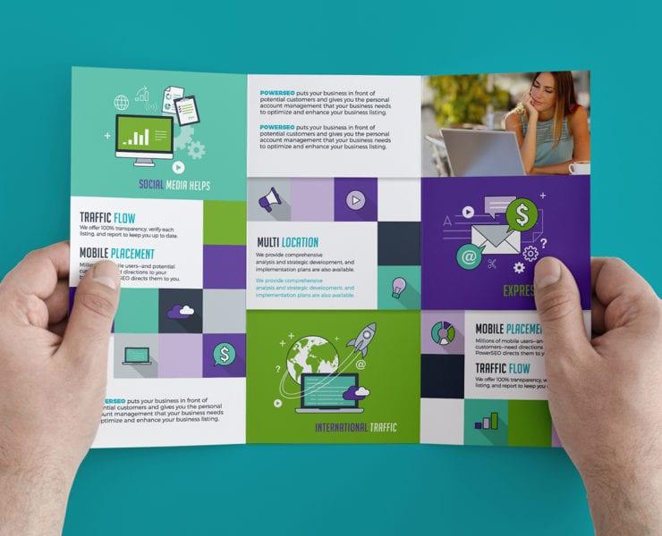 SEO Agency Trifold Brochure Template