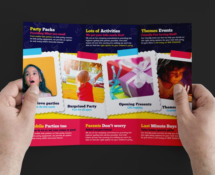 Kid's Trifold Brochure Template