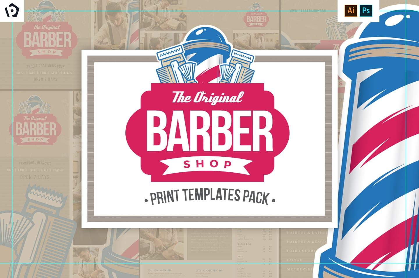 Barber's Shop Templates Pack