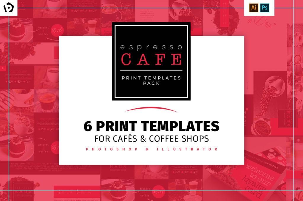 Cafe Menu Templates Pack