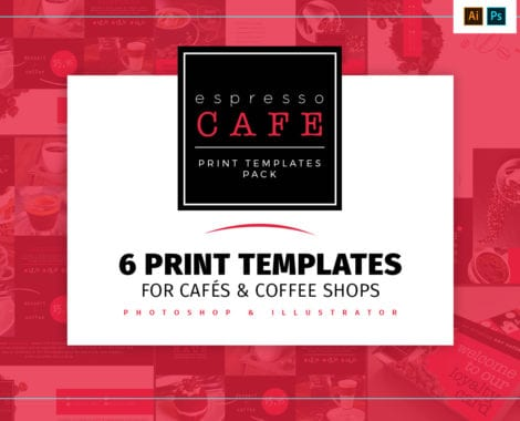 Cafe Menu Templates Pack