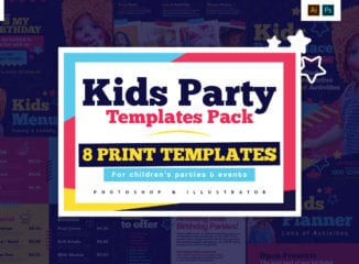 Kid's Party Templates Pack