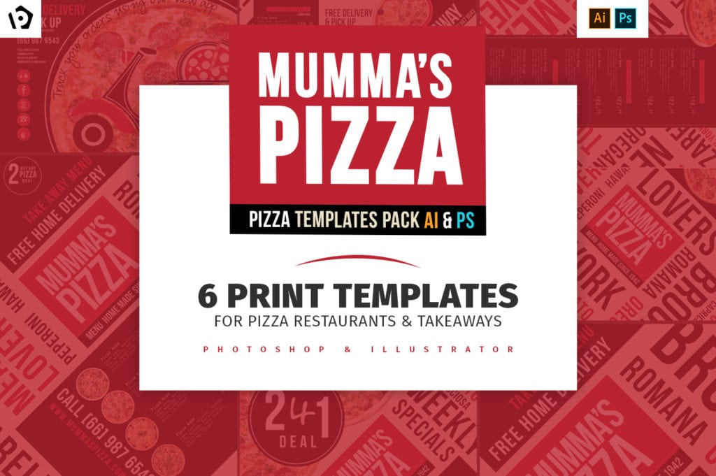 Pizza Templates Pack - BrandPacks