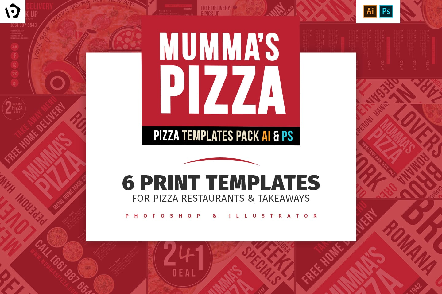 Pizza Templates Pack - BrandPacks