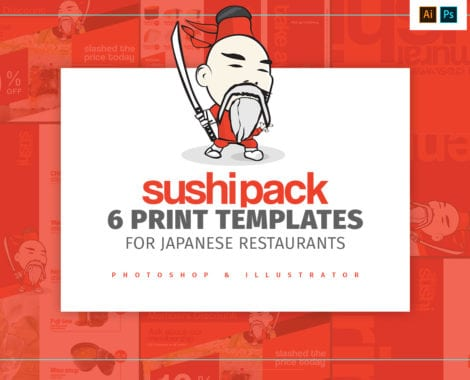 Sushi Restaurant Menu Templates Pack
