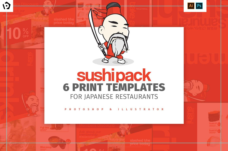 Sushi Restaurant Menu Templates Pack