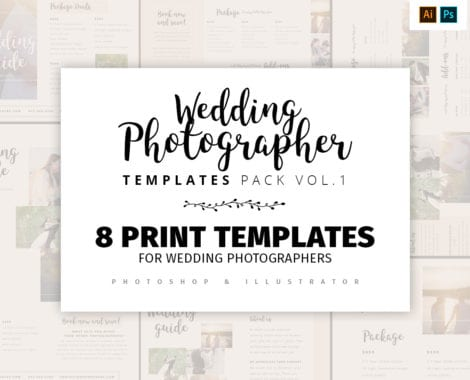 Wedding Photography Templates Pack