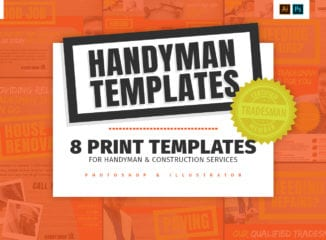 Handyman Templates Pack for Photoshop & Illustrator