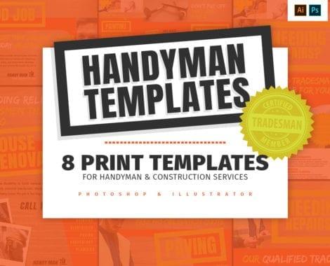 Handyman Templates Pack for Photoshop & Illustrator
