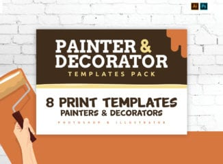 Painter & Decorator Templates Pack for Photoshop & Illustrator