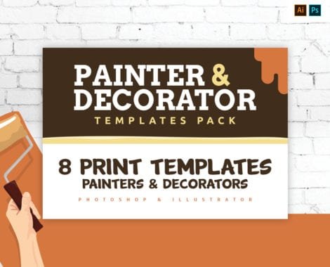 Painter & Decorator Templates Pack for Photoshop & Illustrator